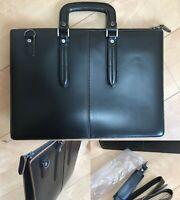 AOKI BAG COMPLEX-GARDENS Business Bag Leather Briefcase Attache Case Black