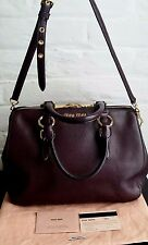 AUTHENTIC MIU MIU MADRAS TOP HANDLE BOWLER TOTE BAG WITH STRAP RRP $2550 AUD