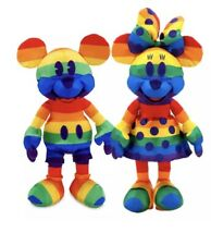 New listing 2020 Disney Parks Mickey & Minnie Mouse Rainbow Pride Month Plush Stuffed Toy