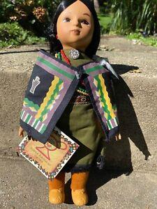 "Vintage 1995 12"" OSAGE NATION WOMAN Sandy Doll Native American Warrior #111"