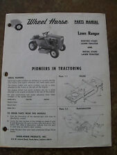 WHEEL HORSE PARTS MANUAL -  Lawn Ranger   -  Original
