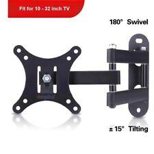 Flat Full Motion TV Wall Mount TV Bracket Swivel Tilt LCD15 17 23 24 26 27 30 32
