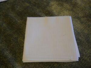 Men's White Pocket Square Hanky