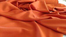 "Burnt Orange Gabardine Tropical Polyester 60""  wide  Free swatches."