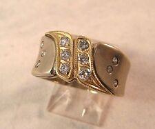 Hand Made ring band Size 7.25 6.1gr 14K gold .36Ct Diamond G wedding anniversary