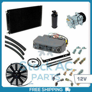 BRAND NEW A/C KIT UNIVERSAL UNDER DASH COMPRESSOR KIT AIR CONDITIONER 12V