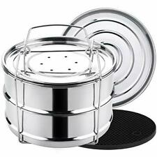 Aozita 3 Quart Stackable Steamer Insert Pans Accessories for Instant Pot Mini