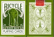 1st EDITION GREEN Bicycle Elephant 808 Tsunami Playing Cards Deck! Made in Ohio!