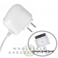 Apple iPhone 4/i4S Travel/Home Charger - White Sync USB Cord Transfer Connector