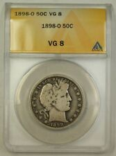 1898-O US Barber Silver Half Dollar 50c Coin ANACS VG-8 (Better) (B)