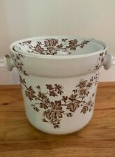 Antique Victorian Engish Ironstone Covered Chamber Pot.