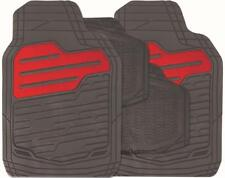 RED/BLACK Set of 4 Heavy Duty Rubber Carpet Mats (RM121) MC18/02