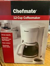 TARGET Chefmate 12 Cup Coffee Maker Pot White Hidden Cord Auto Pause Filter