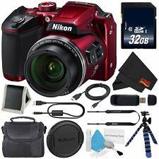 Nikon COOLPIX B500 Digital Camera (Red) Bundle