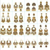 Women Bohemian Gold Tassel Dangle Ethnic Gypsy Earrings Indian Jhumka Wedding