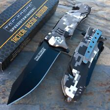 Tac Force Open Assist Digital Camo Tactical Rescue Camping Outdoor Pocket Knife