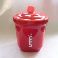 "NESCAFE COFFEE Red Plastic MULTIPURPOSE JAR CUP 4"" 200ml Tall Nestle Malaysia"