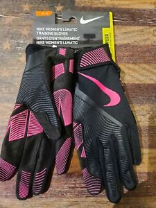 NEW  Nike Women's Lunatic Training Gloves Speed Medium PINK & BLACK Crossfit