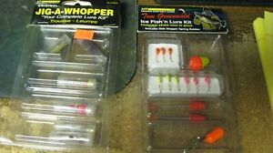 ice fishing kits, jig a whoppers, nip, free shipping
