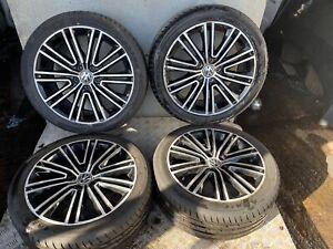 "GENUINE! VW PASSAT B7 SCIROCCO EOS VICENZA 18"" ALLOY WHEELS X4 --- 3AA601025 L"