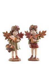 Victorian Trading Autumn Acorn Fairies Elves Figurines Audrey & Ignatius 38a