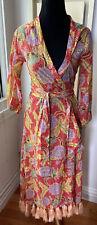 Rhode Resort Tassle Wrap Lena Dress Botanical NWT Sz XS $385