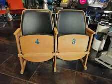 Sedie cinema di legno imbottite nere anni 60