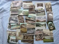 JOB LOT of 91 WELSH POSTCARDS - ABERYSTWYTH CONWY BUILTH ETC - WALES - 1904-1965