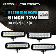 4x 7INCH 72W LED WORK LIGHT BAR FLOOD OFFROAD ATV FOG TRUCK LAMP 4WD 12V 6""