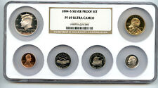 2004-S Silver Proof Set NGC PROOF 69 ULTRA CAMEO