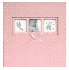 """50 Page Baby Girl Polka Dot Book Bound Traditional Album Pink 200 Photos 6""""x4"""""""