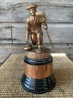 Vintage Curling Trophy Brass Trophy Curling