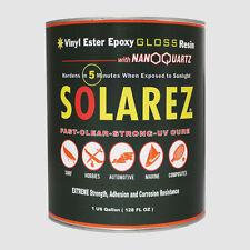 Solarez Uv Cure Nano-Quartz Gloss Resin (Gallon)Surfboard, Craft, Hobby, Marine