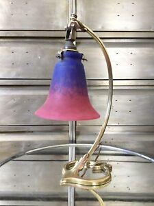 Lampe Art Nouveau Bronze Auguste Delafontaine Pâte De Verre Schneider XIXème