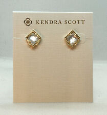New Kendra Scott Kirstie Stud Earrings In Ivory Pearl / Gold