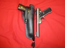 Western Style Leather Holster for Browning Buckmark .22 LR/ Ruger Mark III 51/2""