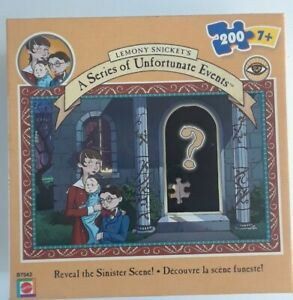 Mattel Lemony Snicket's A Series of Unfortunate Events 200 Piece Puzzle Preowned