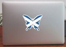 Scotland Flag Butterfly Map Laptop Bumper Window Sticker Proud to be Scottish