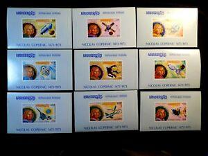 CAMBODIA IMPERF Souvenir Sheet Stamp Set Scott 324-330 MNH unlisted