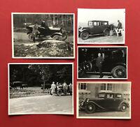 5 x Original Privat Foto um 1925/30 verschiedene Automobile  ( 61304