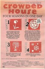 """13/6/92Pgn06 CROWDED HOUSE : FOUR SEASONS IN ONE DAY SINGLE ADVERT 10X7"""""""