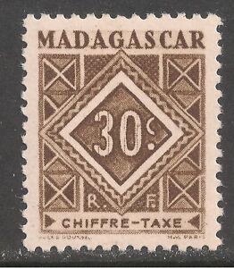 Madagascar (French) #J32 (D3) VF MINT LH - 1947 30c Postage Due