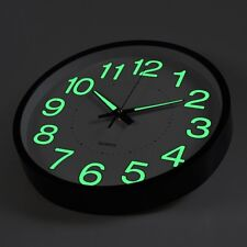 12 inch Glow Dark Wall Clock Silent Quartz Luminous Wall Classic Night Clocks US