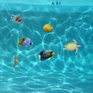 Unterwasser - Dekosticker Poolaufkleber, Pool-Design, Dekosticker   Serie Ocean