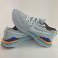 Nike Epic React Flyknit 2 Women's Size 9 NEW White Purple Running Athletic Shoes