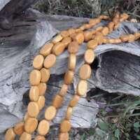 50 Perles Bois Olive Plate Nangka