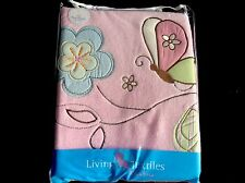 LIVING TEXTILES PINK COT PLUSH BLANKET. SIZE 150cm X 120cm. BRAND NEW.