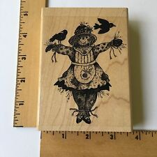 Impression Obsession Rubber Stamp - Scarecrow Girl  H7540 - NEW
