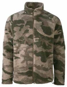 Cabela's Outfitter Camo Quiet Berber Fleece Windshear Zip-Up Hunting Jacket