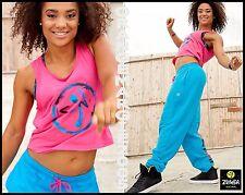 ZUMBA Be the Boss Cropped Boxy Top+Hip Hop Dance Sweat Pants RARE! 2Pc.SET! S M